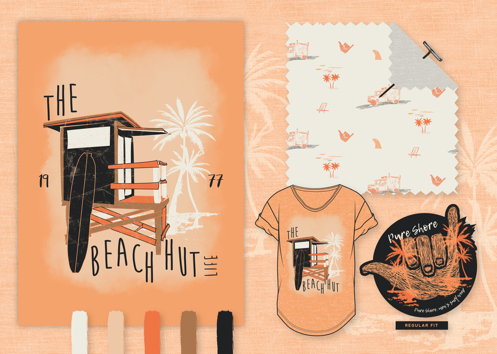 Go pastel peach for this beach shack theme. A Men's wear range for a hot Summers day.    Why not check out our Sports Active ranges, just click the link below.