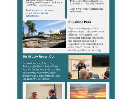 August Newsletter, District 2