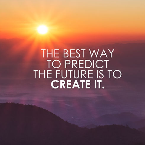 motivational quote to create future on