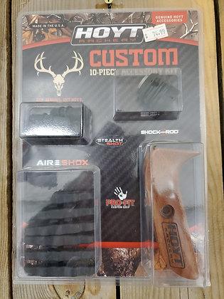 Hoyt 10 Piece Custom Accessory Kit - Wood/Black