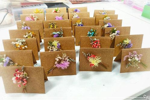 Mini Dried Flower Cards