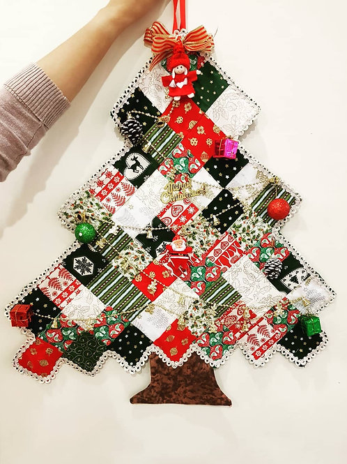 Patch Work Christmas Tree (Wall Decoration)