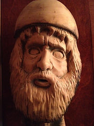 Alder, Viking, Woodcarving, Beard