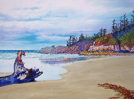 Seventh Beach, Calvert Island, Macrocystis, Hakai, Cliffs, Sand