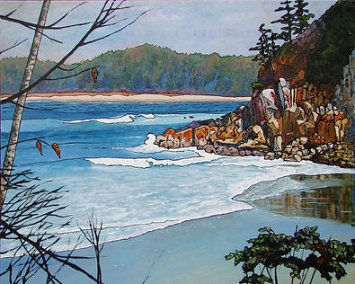 Second Beach, Calvert Island, Hakai, Winter