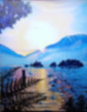 Sword Ferns, Port Alice, Sunset, Frigon Islets