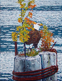 Bald Eagle, Pilings, Port Alice