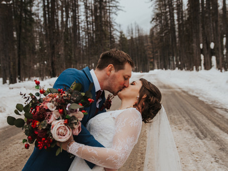 Izaak Walton Winter Wonderland Intimate Wedding