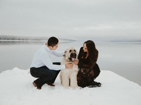 Glacier National Park Winter Wonderland Couples Session
