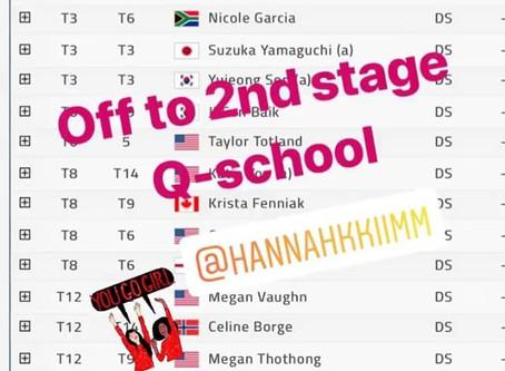 Q-School T-12. Hannah Kim