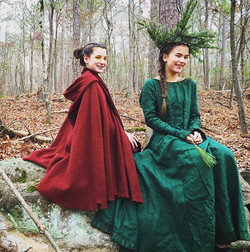 Sister Spirits ~ Fastanna of Fire and Eostan of the Evergreens