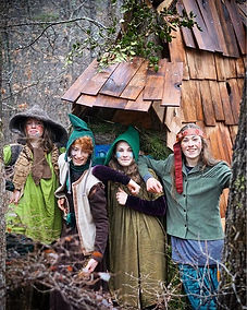A band of woodland elves made their way