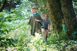 Nothing like a forest full of children...steeped in imaginative adventure