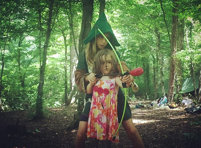 Archery lesson with the elven ranger 💘___#larp #rewild #childhoodunplugged  #athenswildlings #schoo