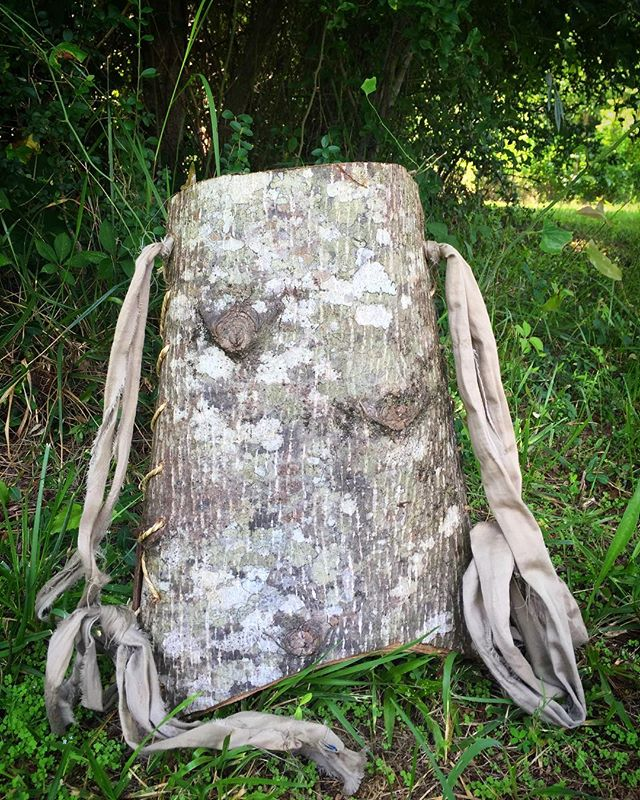 Ella's poplar bark backpack..