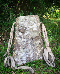 Ella's poplar bark backpack..