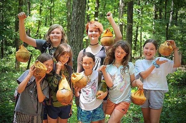 Gourd and deerskin bags!!! #makersgonnam