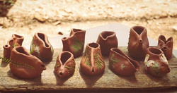 Clay oil lamps..