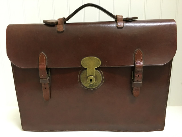VCH Finds: Vintage English Bridle Leather Satchel