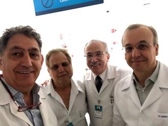 Drs. Walid El Andere, Antonio Demian, Renato Assad e Luciano Nesrallah