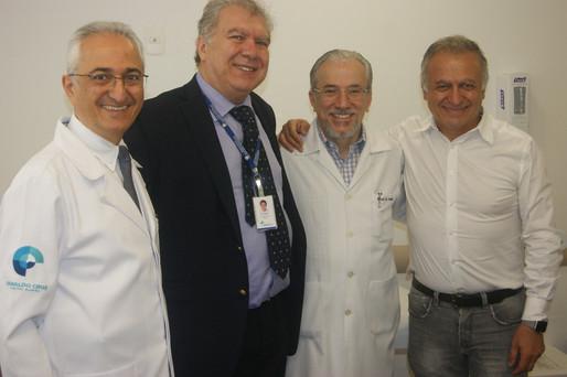Drs. Riad Younes, Cecin Yakoub, Renato Assad e Robert Nemer