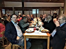 Dr. Assad Frangieh e Dr. Cecin Yacoub  e colegas da AMLB