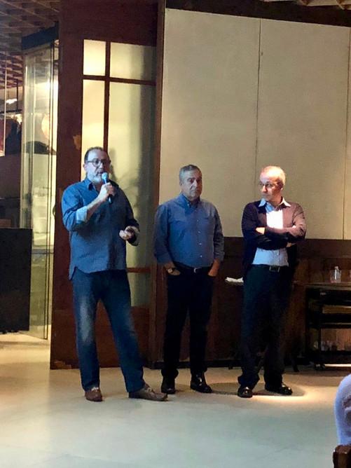 Apresentação do projeto Jozur no Jantar AMLB por Fábio Atui, Luciano Nesrallah e Rogério Tuma.