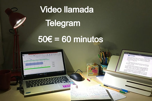 Consulta Vídeo llamada 50€  60minutos