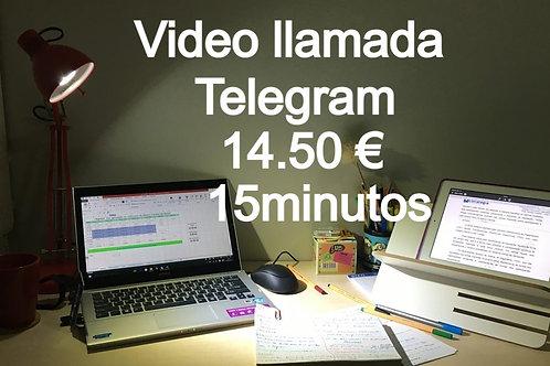 Consulta Vídeo llamada 14,50€  15minutos