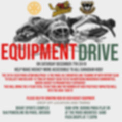 PMHA & Mounties Equipment Drive Poster .