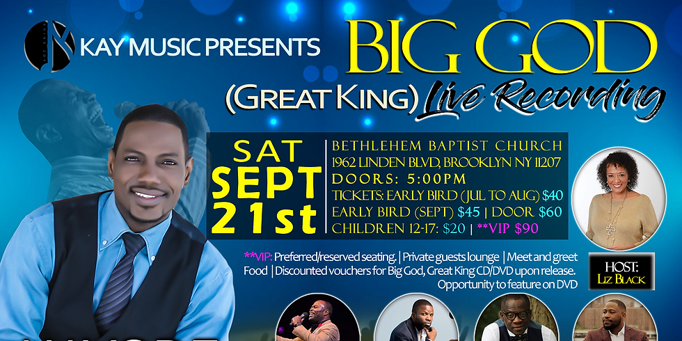 Big God Great King Live Recording