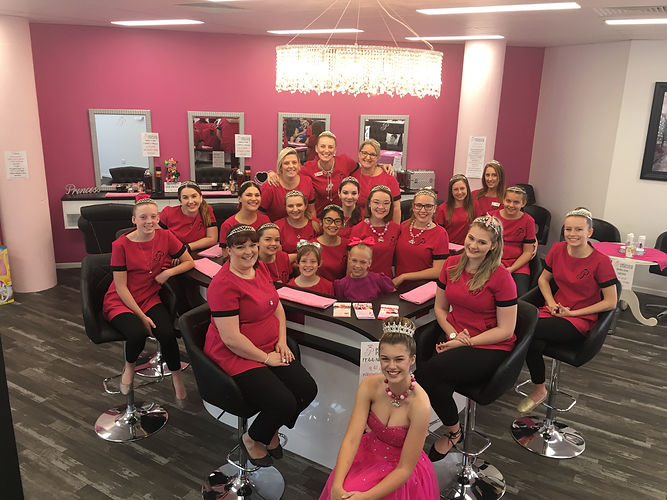 STAFF PRINCESS PARLOUR GLAMOUR PRINCESS GIRLS PARTIES NORTH LAKES