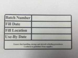 DFE-014 - 200Ltr drum batch label (Qty 50)
