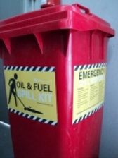 SKA-001 - Oil & Fuel 120 Litre Wheelie Bin Spill Kit