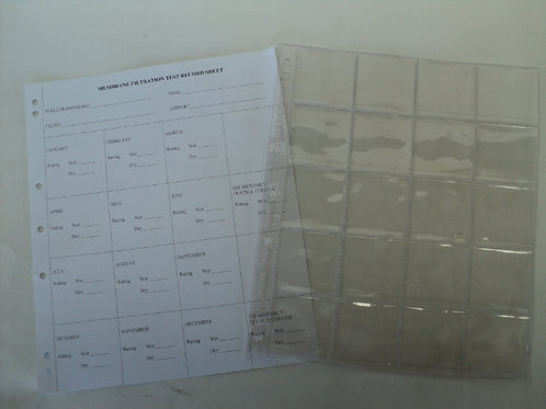QC-055 - Membrane Filtration Test Record Sheet with Plastic Sleeve