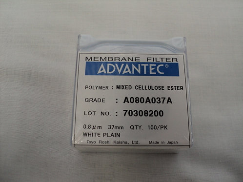 QC-050 - Membrane Filters MCE 0.8um 37mm - Box of 100