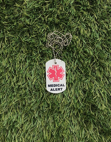 Medical and Allergy Dog Tag (2 Sided)