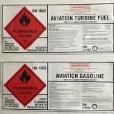DFE-022 - 200Ltr drum product label - Jet A1 (Qty 50)