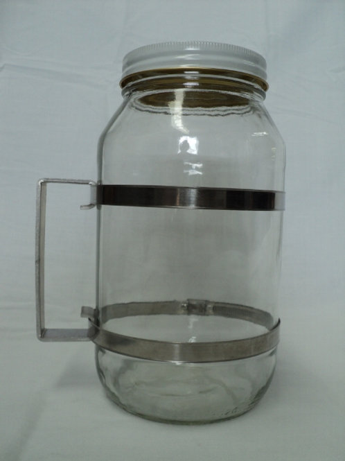 QC-026 - 2ltr Glass Jar with Handle and Clamps