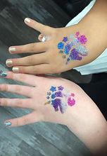 GLITTER TATTOOS PRINCESS PARLOUR GLAMOUR PRINCESS GIRLS PARTIES NORTH LAKES