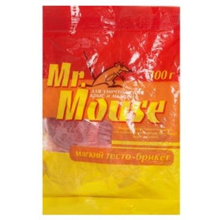 Mr.Mouse (Мистер Маус) приманка от крыс и мышей (брикеты), 100 г