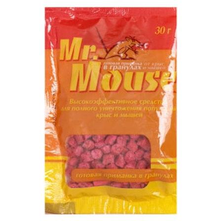 Mr.Mouse (Мистер Маус) приманка от крыс и мышей (гранулы), 30 г