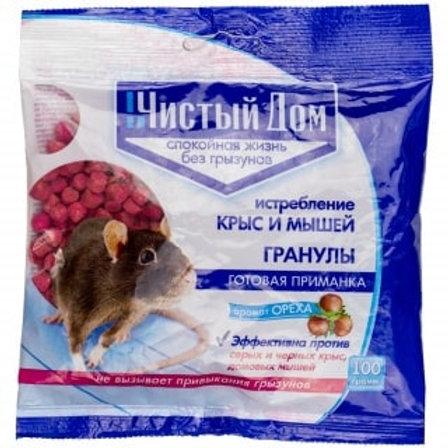 Чистый Дом гранулы от крыс и мышей, 100 г