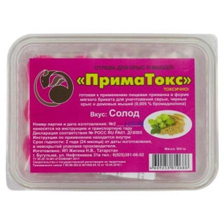 ПримаТокс отрава для крыс и мышей в брикетах (солод), 500 г