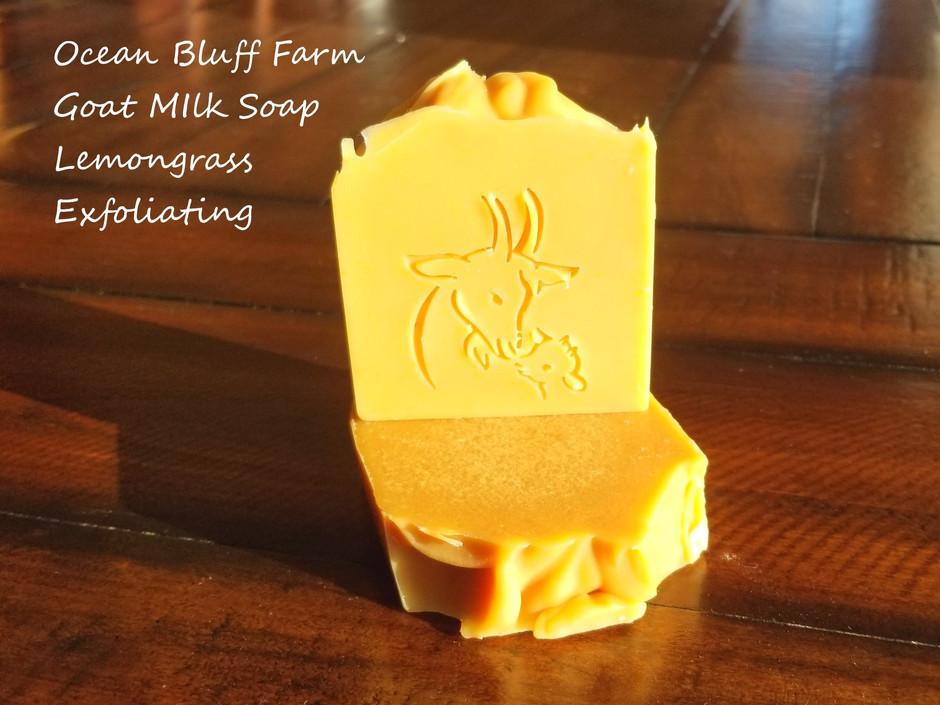 Back in Stock! Lemongrass Exfoliating Goat Milk Soap