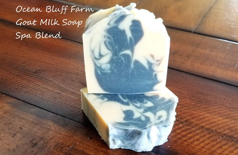 New Ocean Bluff Farm Goat Milk Soap added to the store, Spa Blend...