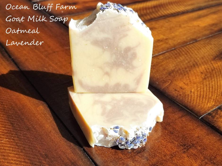 Back in Stock, Ocean Bluff Farm Oatmeal Lavender Goat Milk Soap...