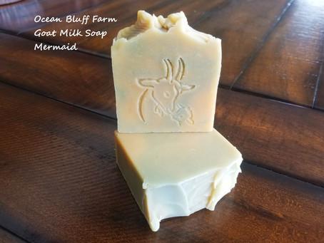 New scent, Ocean Bluff Farm Goat Milk Soap Mermaid!