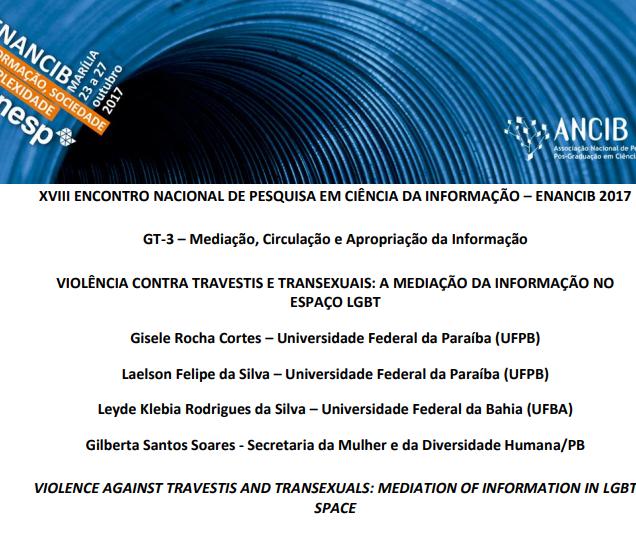 Violência contra travestis e transexuais: a mediação da informação no espaço LGBT