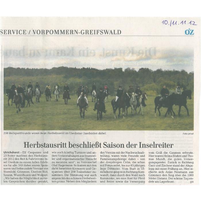 Ostsee-Zeitung 11.11.2012